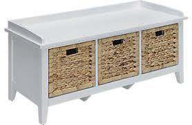 White Storage Bench Accent Benches For Storage Living Room Entryway More