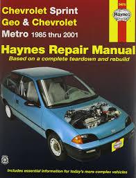 amazon com haynes manuals 24075 chev sprint geo metro 85 01