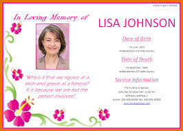 6 free funeral program template itinerary template sample