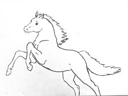horse outline free download clip art free clip art on