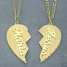 personalized necklaces for couples gold personalized heart name pendant necklace jewelry