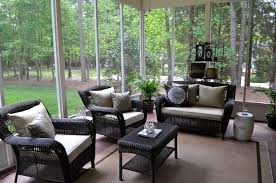 Home And Patio Decor Center Patio Design Depot With Brown Carpet With Black Rattan Chairs And