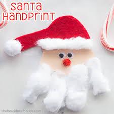 santa handprint craft the best ideas for