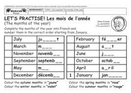 french u2013 health u0026 body y3 y4 the months of the year