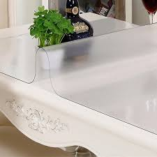 thick plastic table cover semi clear 1 0mm thickness plastic table cloth scrub soft glass pvc