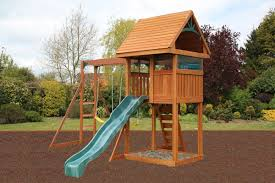 kinross climbing frame wooden swing and slide set
