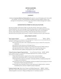 Customer Service Representative Resume Customer Customer Service Resume Summary