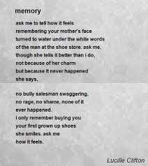 memorial poems for memory poem by lucille clifton poem