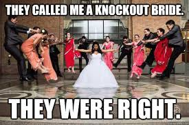Hadouken Meme - they called me a knockout bride they were right hadouken bride