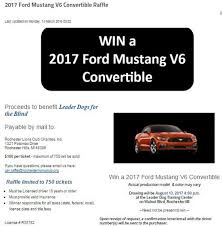 Charities For The Blind 2017 Ford Mustang V6 Convertible