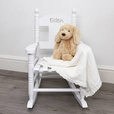Wooden Rocking Chair Kids Personalised Child U0027s Rocking Chair By My 1st Years