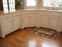 Painted Or Stained Kitchen Cabinets How To Distress White Laminate Cabinets Memsaheb Net