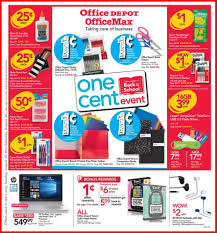 Office Depot by Officemax Ad Scan For 8 20 To 8 26 17