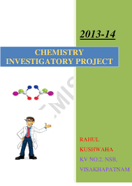 design of cover page for project chemistry investigatory project class 12