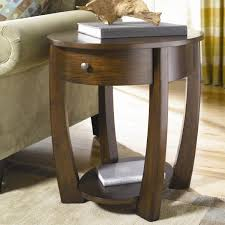 round wood accent table oval drawer end table by hammary wolf and gardiner furniture
