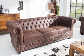 vintage chesterfield sofa hochwertiges chesterfield sofa 3 sitzer vintage braun echtes