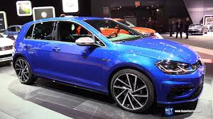 volkswagen gti blue 2017 2018 volkswagen golf r 4motion exterior and interior walkaround