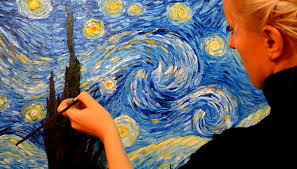 how to draw landscape of starry night step by step free video