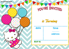 create invitations online free to print free personalized hello kitty birthday invitations drevio