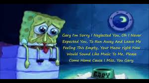 spongebob squarepants gary come home lyrics video dailymotion