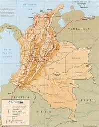 Columbia South America Map Colombia Map Colombia Political Map Colombia Travel Map