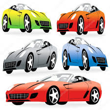 cartoon sports car cartoon style racing cars set u2014 stock vector kaludov 6824752