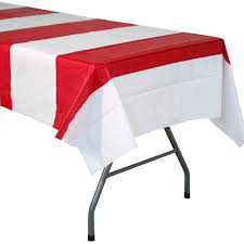 Patio Party Vinyl Tablecloth by Red And White Striped Tablecover Walmart Com