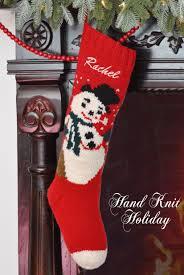 personalized snowman christmas stocking u2013 hand knit holiday
