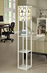 Threshold Floor Lamp Threshold Floor Lamp With White Shade And Glass Shelves Silver