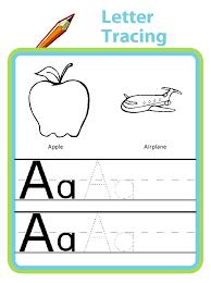 letter tracing great for preschool and kindergarten handwriting