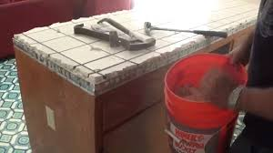Countertop Tile How To Remove Or Demolish Old Tile Countertop Youtube