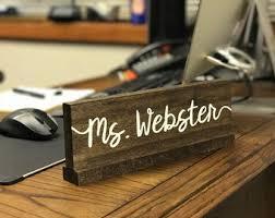 Office Desk Gift Desk Name Plate Etsy