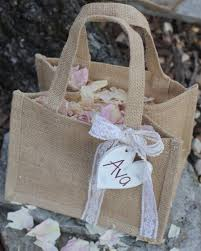 Shabby Chic Wedding Gifts by Bridesmaid Gift Bag Flower Basket Personalized Heart Custom