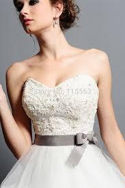 white and grey wedding dress fashionvestido de noiva custom made 2014 white beaded grey