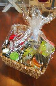 gift plastic wrap diy easy fast inexpensive s day gift baskets simply