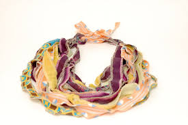 diy anthropologie inspired scarf necklace