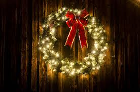 lighted christmas wreath royalty free western christmas pictures images and stock photos