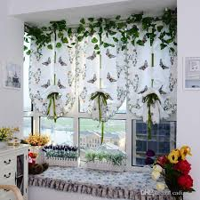 Printed Fabric Roman Shades - light filtering fabric fold roman shade butterfly printed window