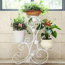 plant stand vintage outdoor pot stand tier metal plant garden