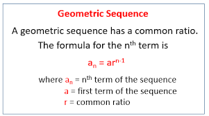 geometric sequences examples solutions worksheets games