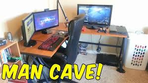 l shaped desk gaming setup l shaped gaming desk elegant 2016 gaming setup video l shaped desk l