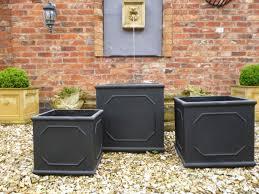 set of 3 classic garden planters various colours savvysurf co uk
