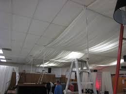 covering basement ceiling with fabric divine patio creative or
