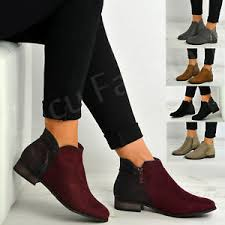 s zip ankle boots uk womens side zip ankle boots fringe tassel comfy shoes