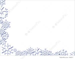 illustration of snowflake border