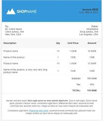 invoice html template free printable invoice