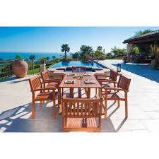 Outdoor Wood Dining Chairs Wood Outdoor Dining Sets For Less Overstock