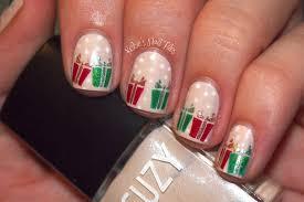 christmas present nail art 12 days of christmas nail art