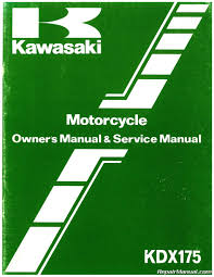1980 u2013 1982 kawasaki kdx175 a motorcycle repair and service manual