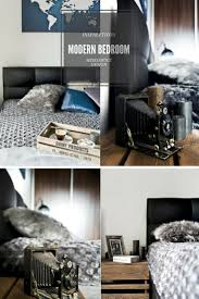 oltre 25 fantastiche idee su camera bachelor su pinterest modern bedroom in shades of grey scandinavian style apartment accessories an antique camera and gray candles warm the mood modern bachelor bedroom
